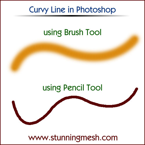 How to make Curvy Lines in Photoshop