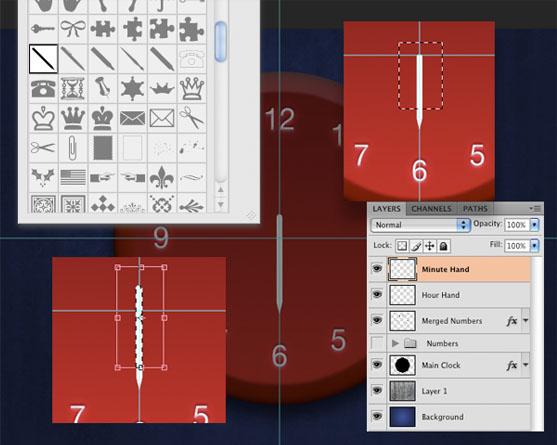 Analog Clock in Photoshop - stunning-mesh-tut15-8