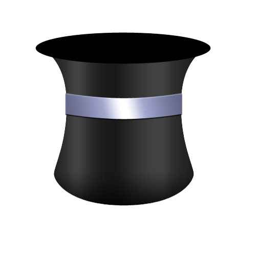 Magical hat in Photoshop