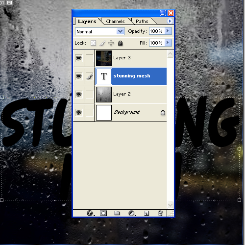 Let Us Create Text on Foggy Window