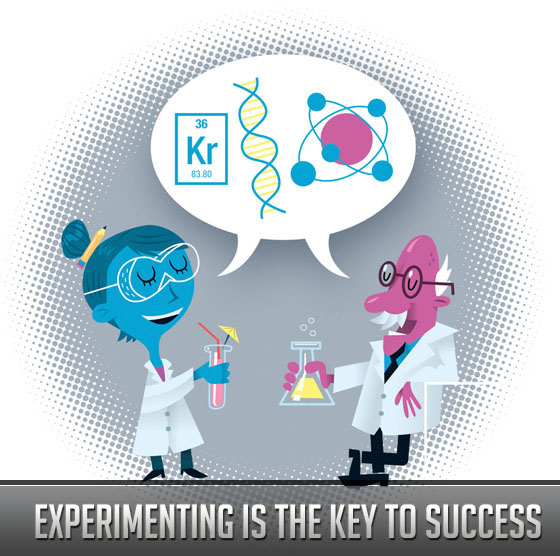 Experimenting Is the Key to Success