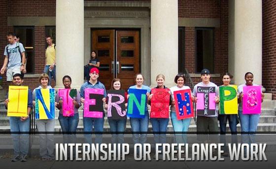 Internship or Freelance Work