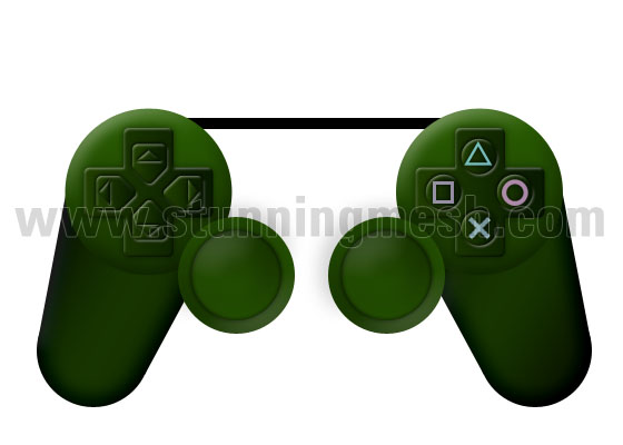 PlayStation Joystick in Photoshop