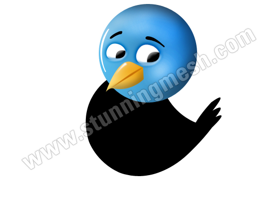 Twitter Bird Icon in Photoshop
