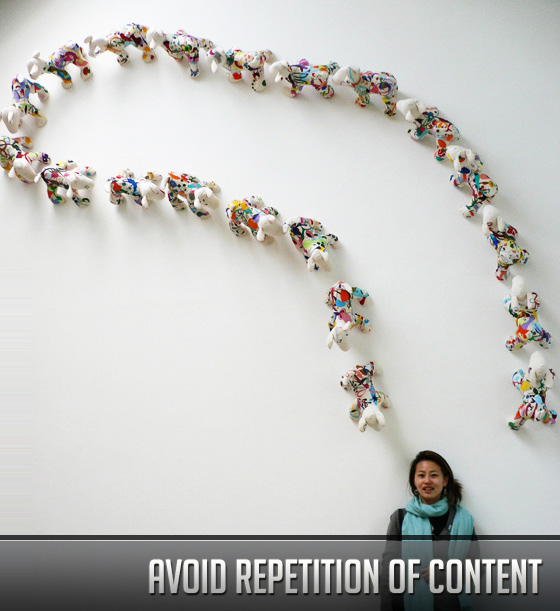 Avoid Repetition of Content