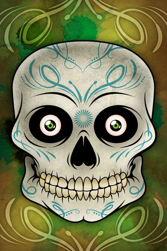 Pseudo Sugar Skull - Illustrator Tutorials