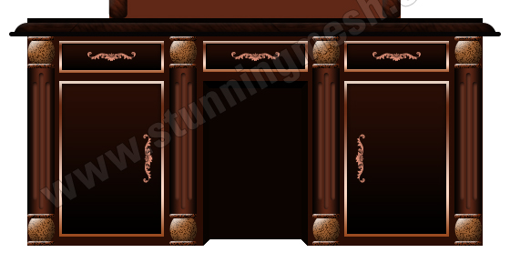 Eastern Style Dressing Table in Photoshop