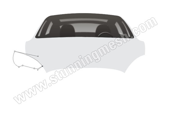 Luxury Car Front View in Photoshop