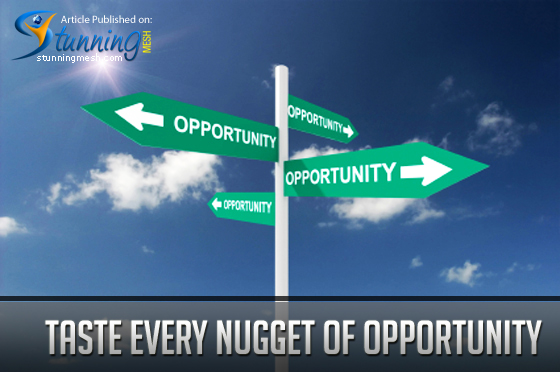 Taste Every Nugget of Opportunity