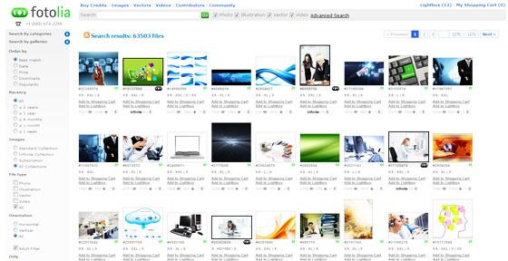 Fotolia Desktop Widgets