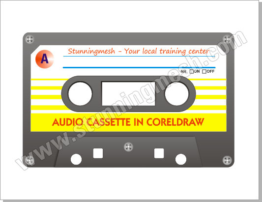 Audio Cassette in CorelDraw Tutorial