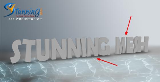 Stunningmesh - Photoshop Tutorial Underwater 3D Text Effect