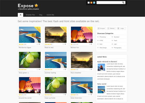Expose Gallery WordPress Theme - 3 in 1 [ThemeForest]