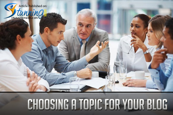 Bloggin Tips: Choosing a Topic for your Blog