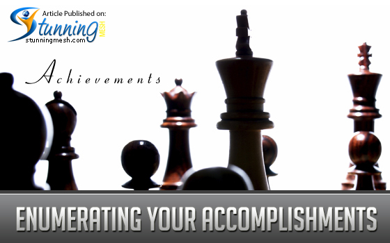 Enumerating Your Accomplishments