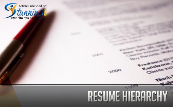 Resume Hierarchy