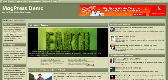 GreenMild Free WordPress Theme