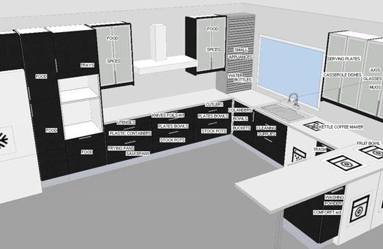 Stunningmesh - Kitchen plan