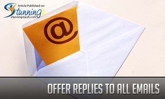 Offer Replies to All Emails Received Related to your Policy about Guest Posts