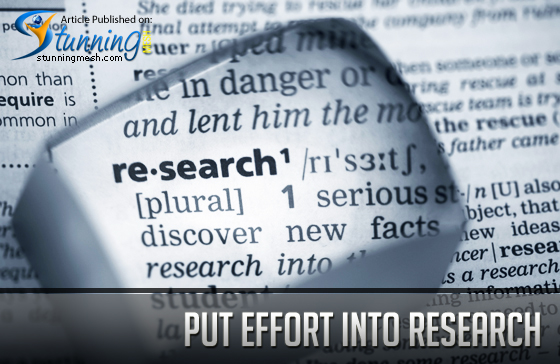 Put Effort into Research To Get Traffic