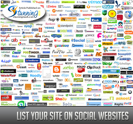 List your website on professional, as well as general social websites