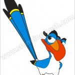 Bezier Tool in Coreldraw to make Cartoon Bird