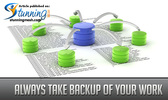 Always Take Backup of your work in E-Commerce Site