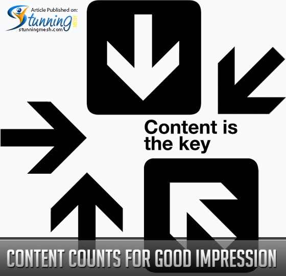 Content Counts for a Good Impression