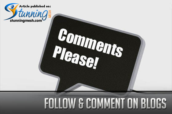 Follow and Comments on blogs
