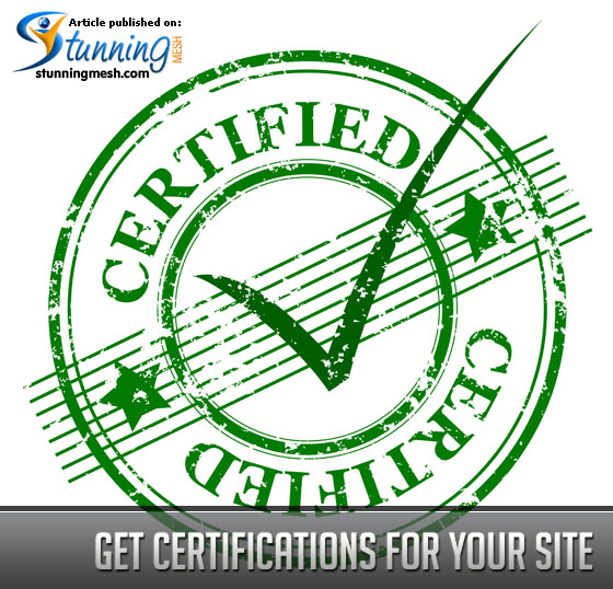 Get Certifications for your Site