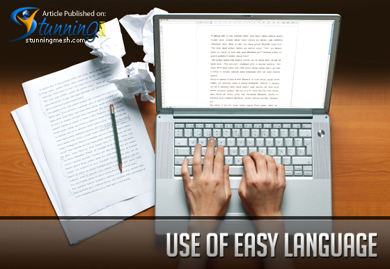 Use of Easy Language in Web Designing