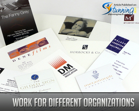 Work for Different Organizations