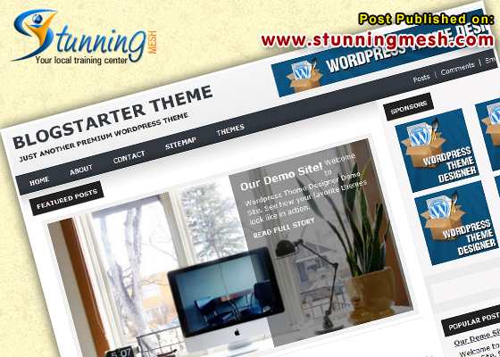 Blog Starter by WPTheme Designer Premium WordPress Themes