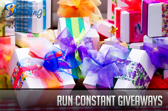 Run Constant Giveaways To Get More Facebook Following