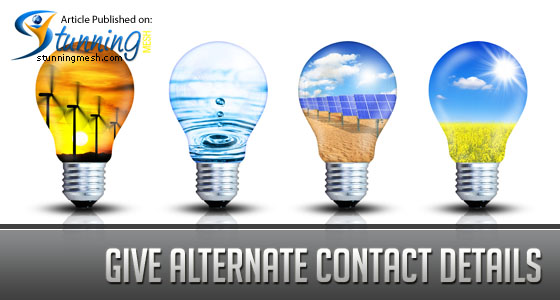 Give alternate contact details to User Friendly Contact us