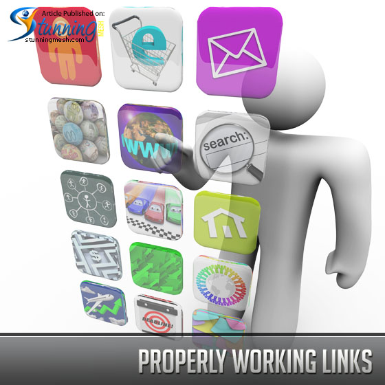 Properly working links
