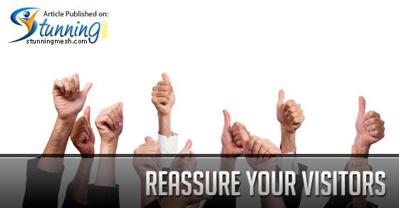 Reassure your visitors