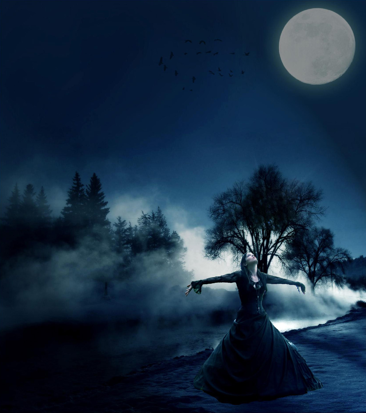Beautiful Romantic Moonlight Wallpapers, Download Free
