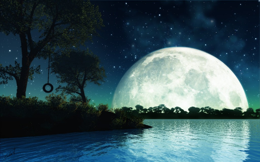 romantic moon wallpaper
