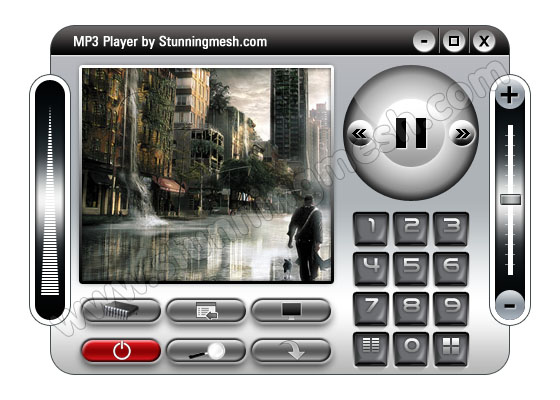 Detailed Video MP3 Player in Photoshop - Final Result