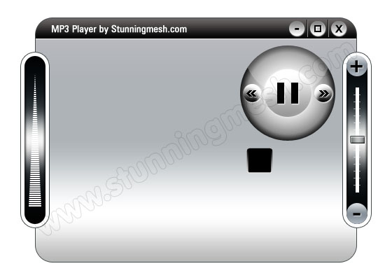 Detailed Video MP3 Player in Photoshop