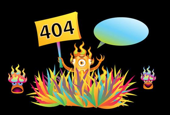 404 Error - Page not found sample