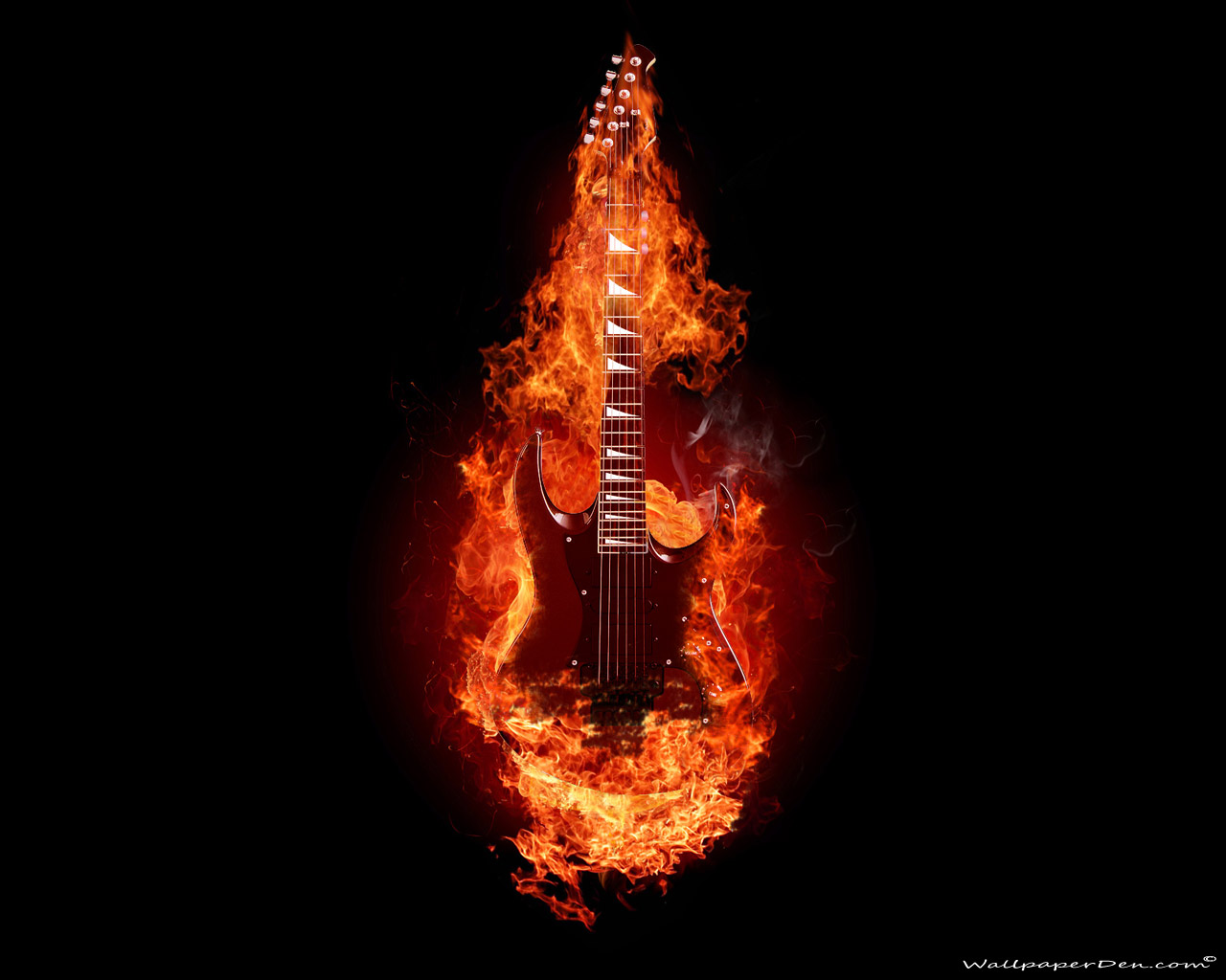 electric guitar art wallpaper fire - photo #27