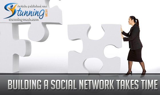 Building a Social Media Network Takes Time