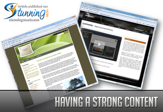 Having a Strong Content in Blog Design