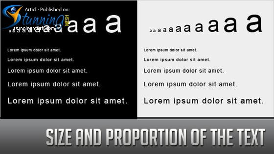 Size and Proportion of the text in Web Design