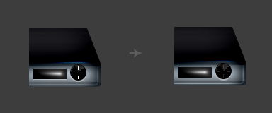 Stylish DVD Player in Photoshop