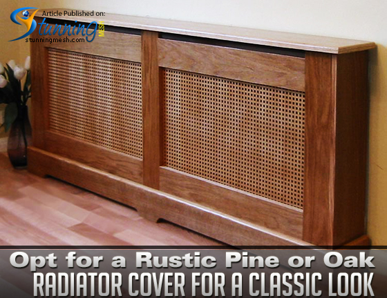 Opt for a Rustic Pine or Oak Radiator Cover for a Classic Look