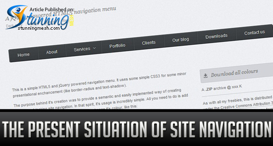 The Present Situation of Site Navigation