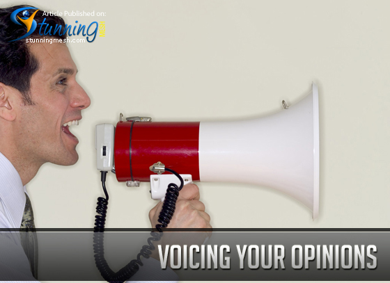 Voicing Your Opinions